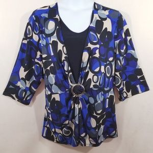 Maggie Barnes Two Piece Look Top - Size 3X - NWT